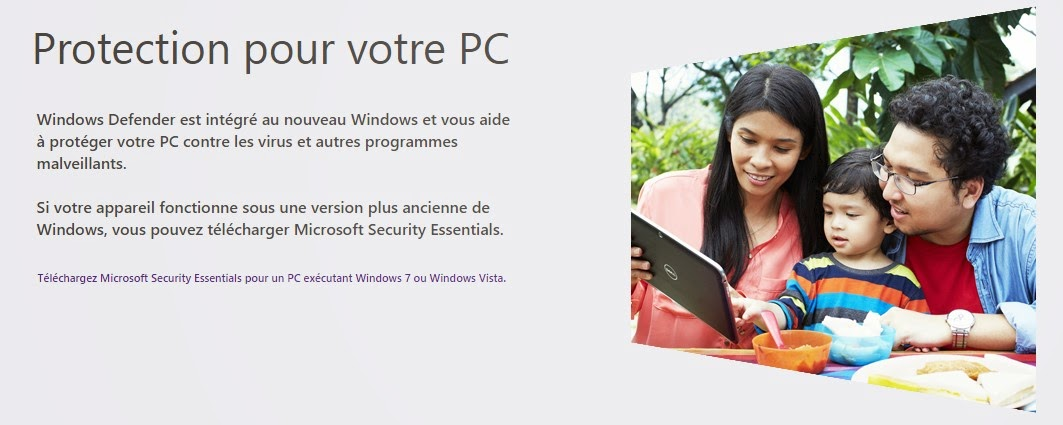 Windows Defender est intégré au nouveau Windows et vous aide à protéger votre PC