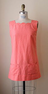 pink scallop neck dress from calivintage pretty penny pop-up