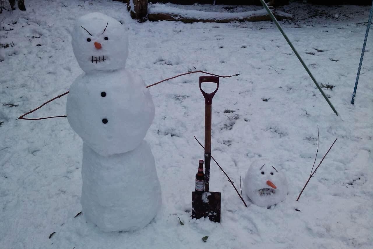 Snowman homicide.
