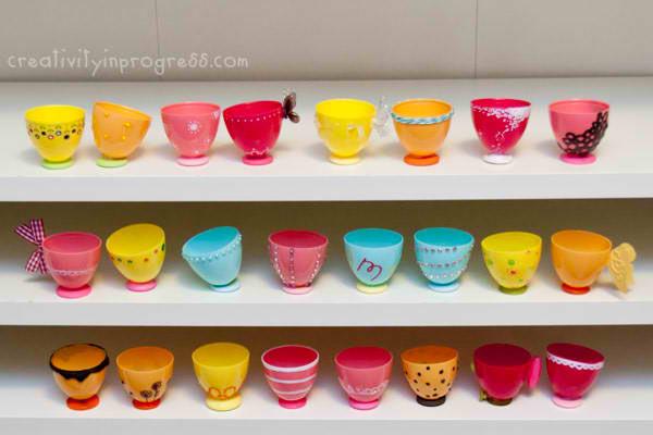 easter egg craft, easter egg tea cup