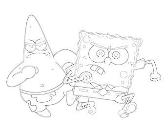 #7 Spongebob Coloring Page