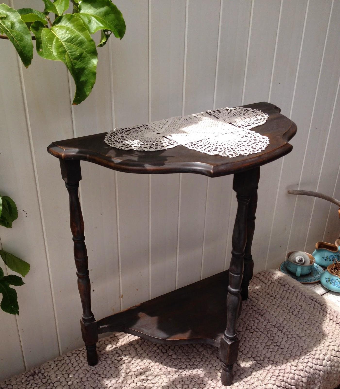 Black Washed Antique Side Table Ivy Amp Co