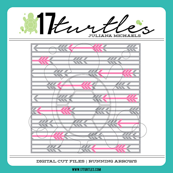 17turtles Digital Cut File Running Arrows