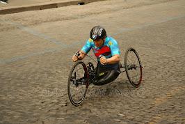 handbike alla Maratona di Roma