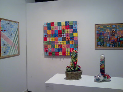 kate mackay, flat cube, blacktown art award, geometric abstraction