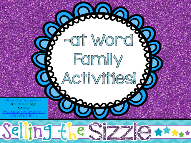http://www.teacherspayteachers.com/Product/-at-Word-Family-Activities-1151339