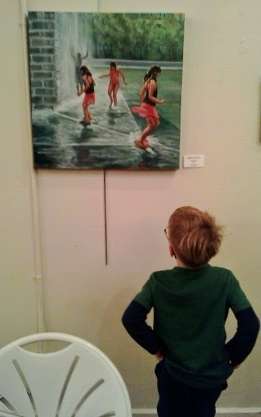 Young Art Appreciater and Future Artist Viewing my Work
