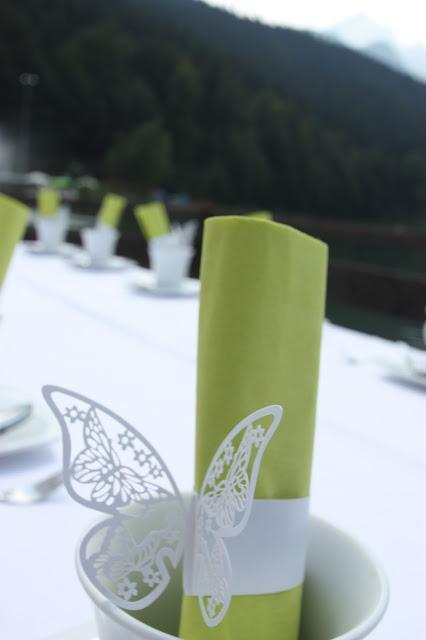 Serviettenringe Schmetterling für Papierservietten