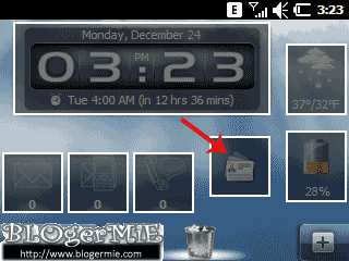 Tampilan Flash pada SMS Sony Ericsson Aspen