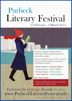 Poster for Purbeck Literary Festival 2014