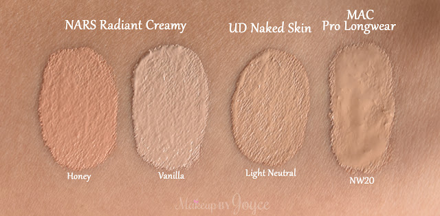 Urban Decay Naked Skin Concealer Light Neutral Swatch MAC NW20