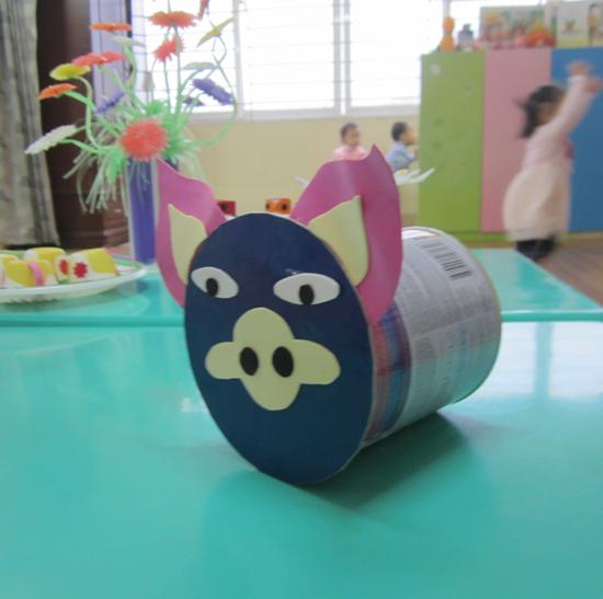 Làm đồ dùng đồ chơi mầm non phế liệu sẵn có