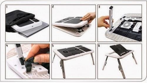 fitur dan detail meja laptop portable murah