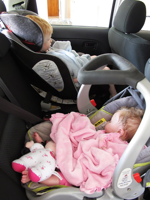 Babies Sleeping in the Car