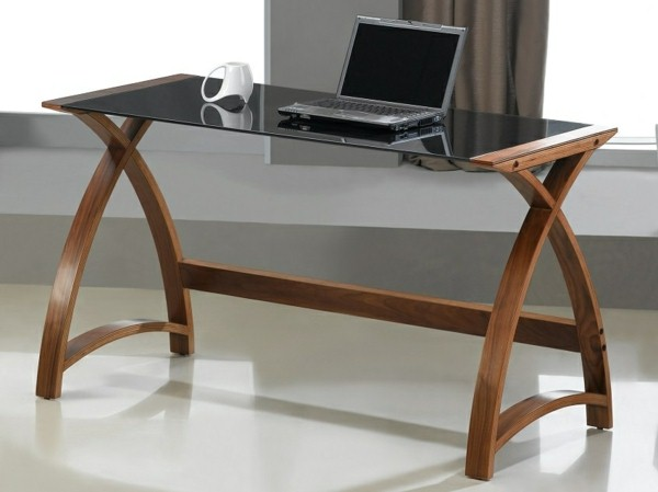 glass top desk - Designer Glass Desk