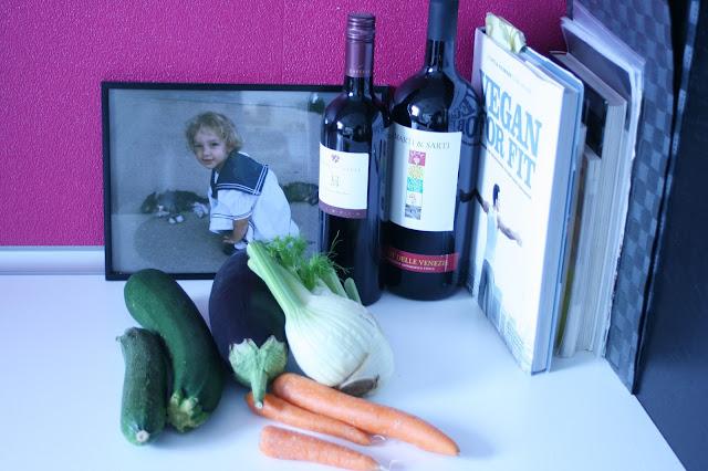 Vegan for Fit - Backofen-Gemüse mit Tofu und Artischocken-Joghurt-Dip