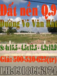 Đất nền quận 9,đường Võ Văn Hát