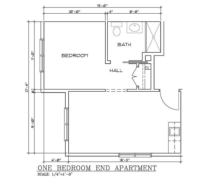 Plan cabins this cabin is a roomy 7 4 x 3 1 metres floor for One bedroom cabin floor plans