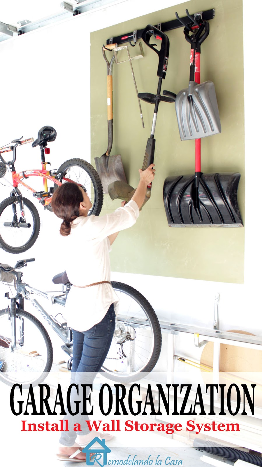 put organization to your tools in the garage with a wall storage system