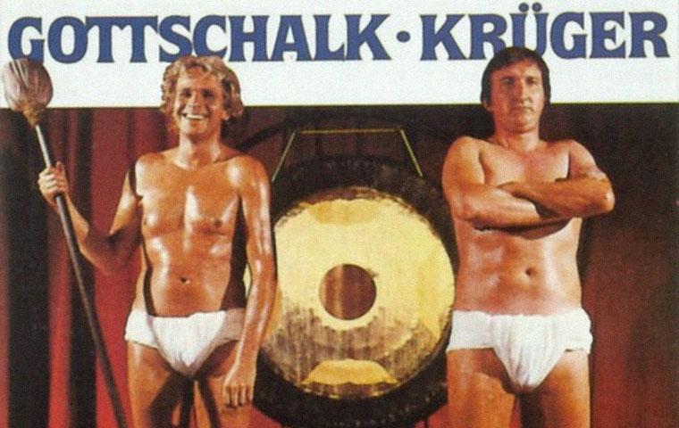 Thomas Gottschalk und Mike Krüger in DIE EINSTEIGER (1985) von Sigi Rothemund. Plakatdetail. Quelle: Lisa Film
