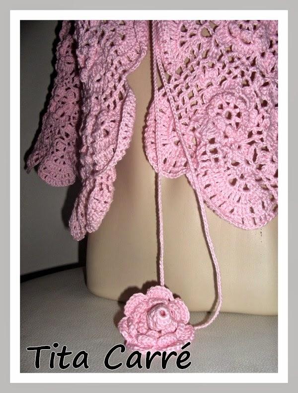 Bolero Floral Rosa - Única