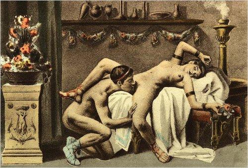 como fazer sexo oral nela Ilustração de Edouard-Henri Avril para o sexo oral