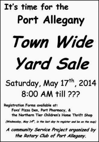 5-14 Register For Port A Town Wide Sale