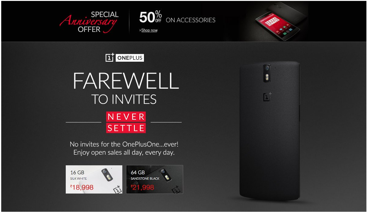 Celebrate The OnePlus One Anniversary ! Offers and More