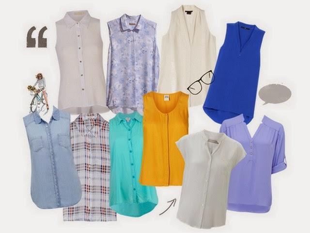 Blusas e camisas básicas, elegantes e coordenáveis