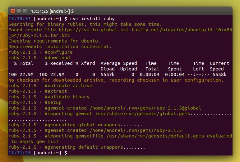 RVM Ubuntu