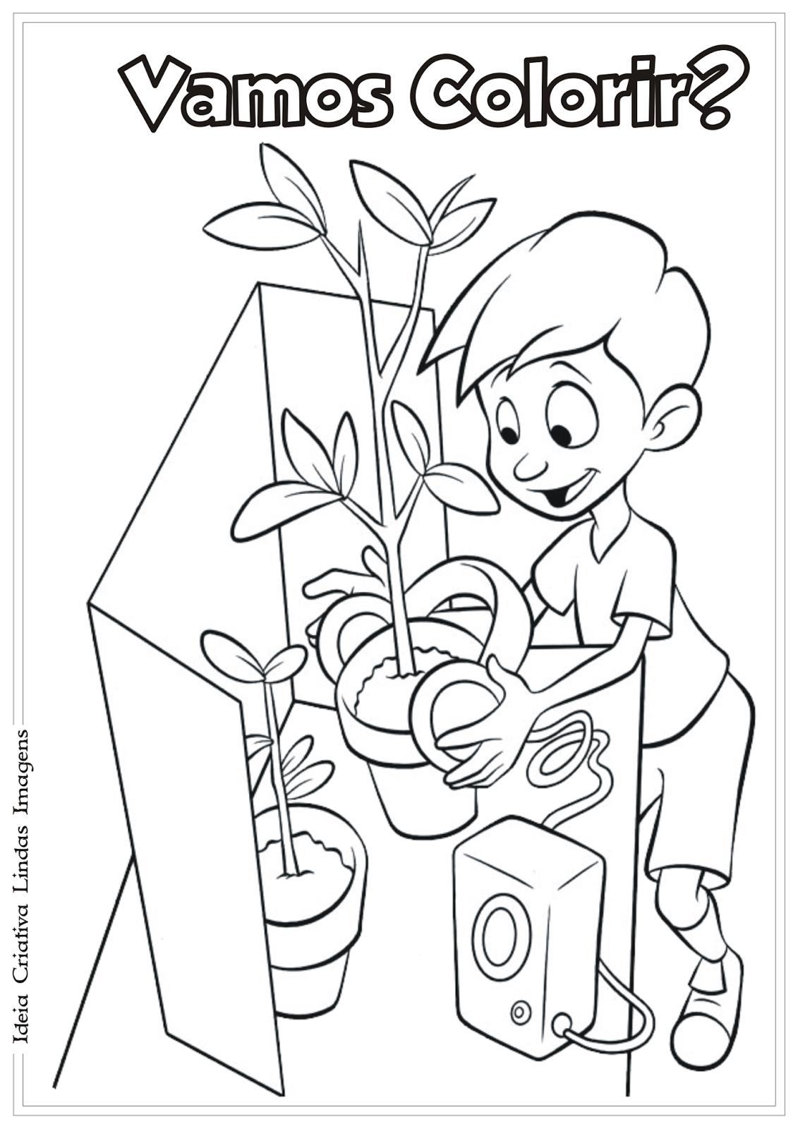 A família do futuro desenho para colorir