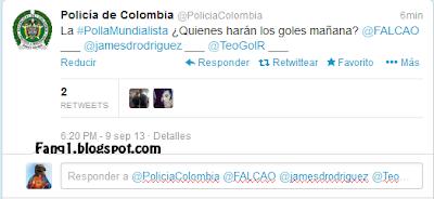 Policía Colombia farandula partido de colombia