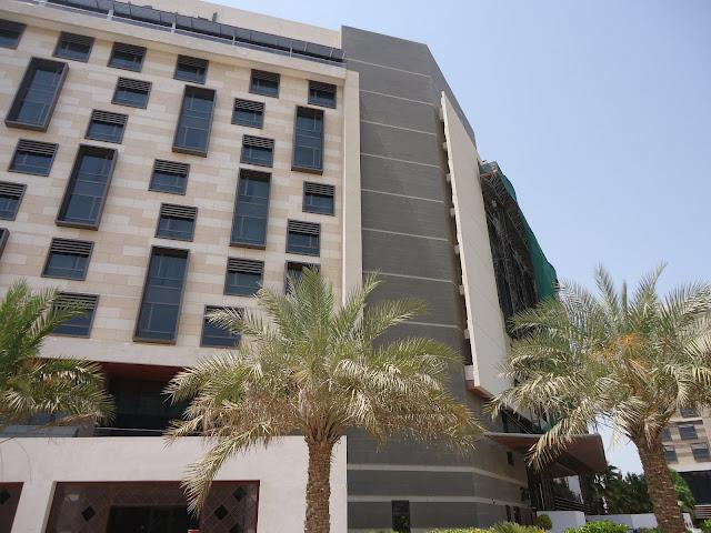 Outside Radisson Blu Hotel Yas Island Abu Dhabi