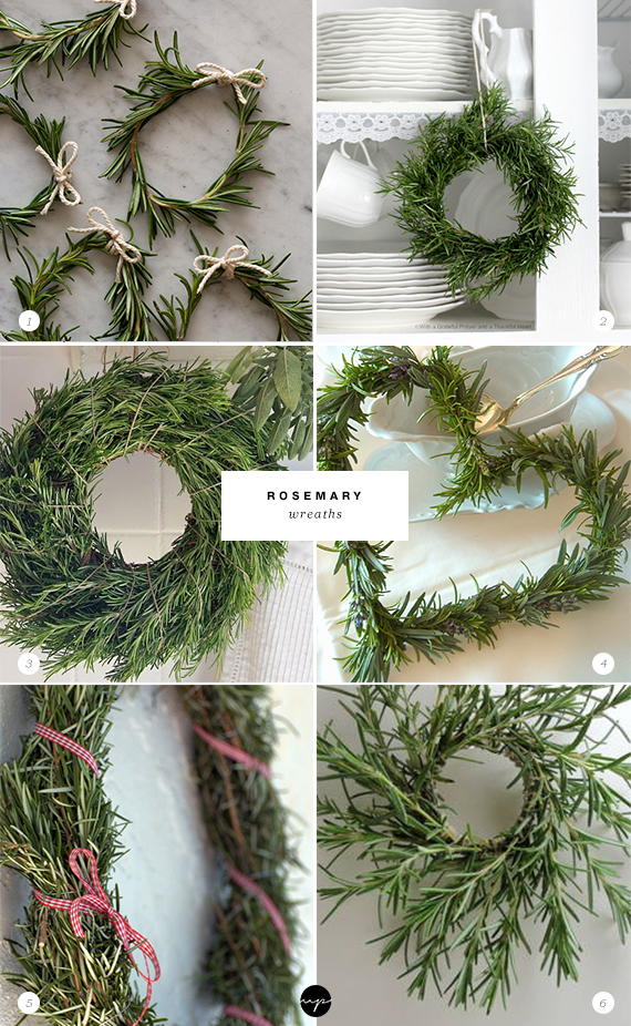 24 ways to decorate with rosemary this holiday | Rosemary wreaths