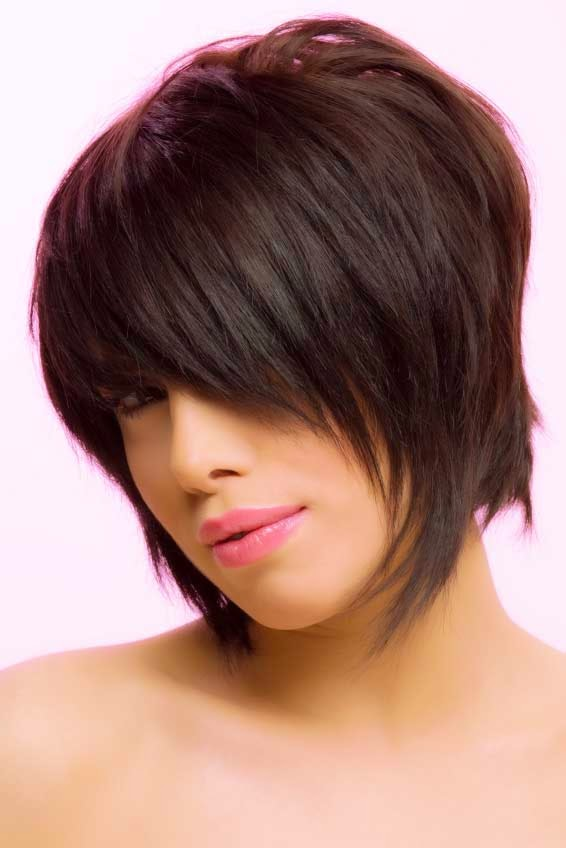 easy short layered bob