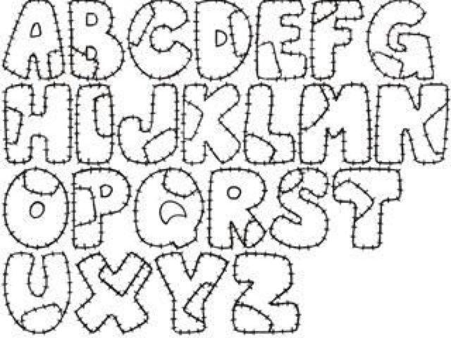 Blog MegaDiverso: Las letras del abecedario para colorear