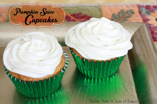 PUMPKIN SPICE CUPCAKES WITH CREAM CHEESE FROSTING - Butter With a Side ...