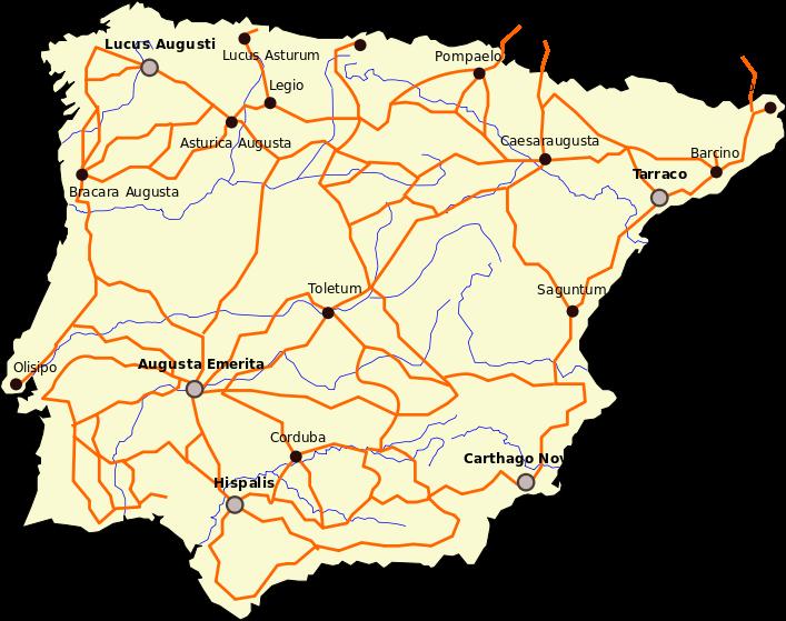 Itinerario de Antonino: Calzadas en Hispania - Edificios de Papel