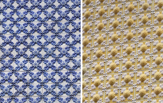 azulejos yellow blue porto portugal guide