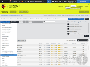 FM14 filter by scout recommendation in player search