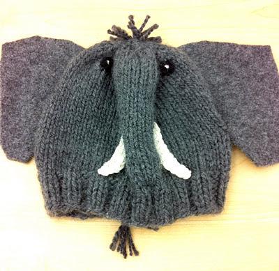 Elephant Ears Knitting Pattern : One Knit One Purl: Elephant Hat