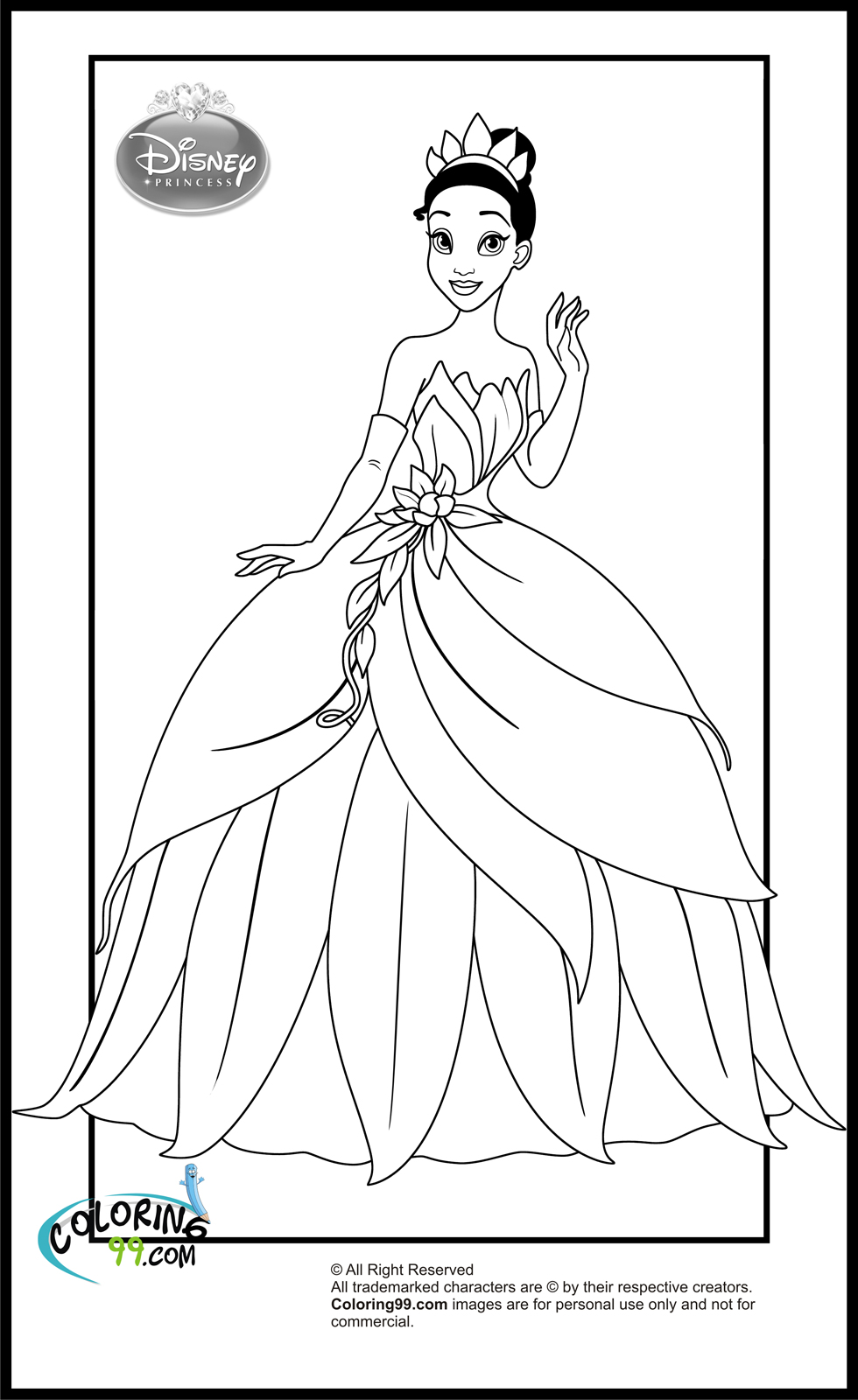 Monster image with disney princess printable coloring pages
