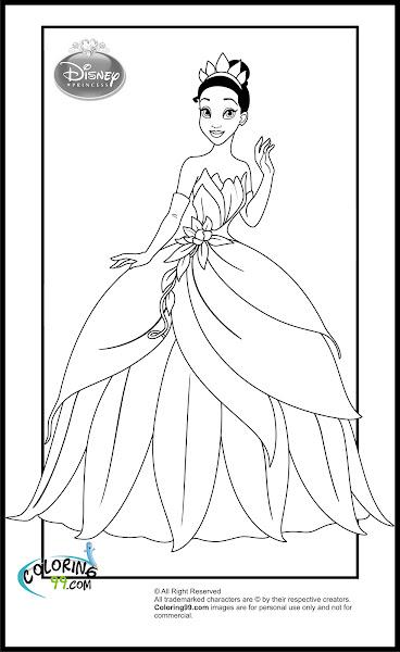 Princess Tiana Coloring Pages to Print