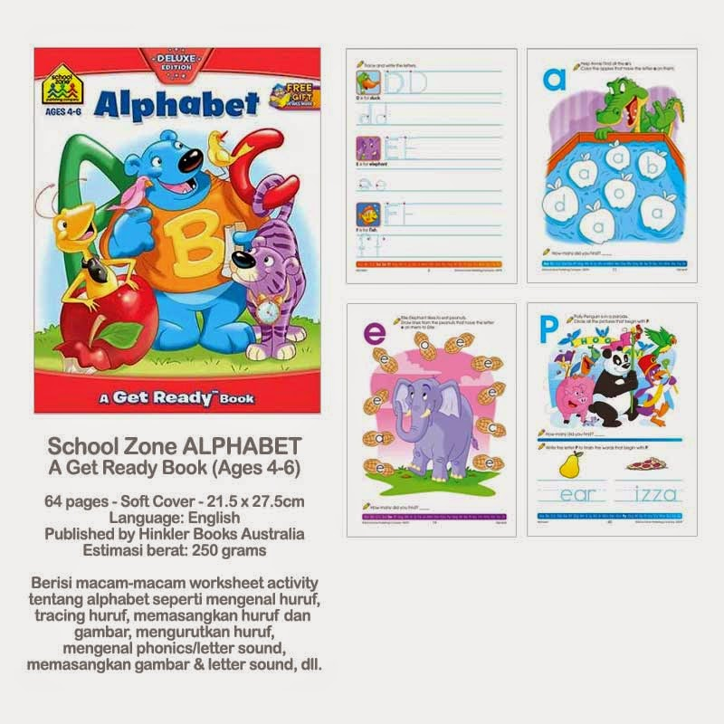 Book Cover School Zone : Planet bayi school zone alphabet a get ready book ages