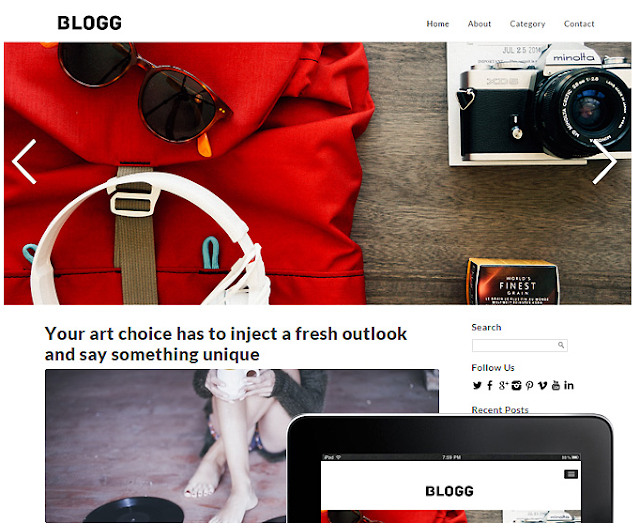 Blogg Responsive WordPress Theme 2.0.1