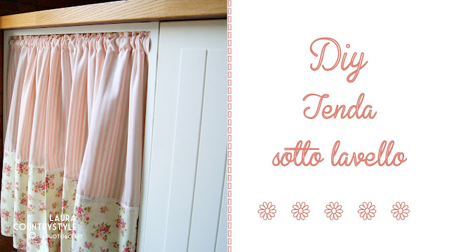 Laura country style diy tenda sotto lavello for Tendina per cucina
