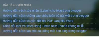 Blogger/Blogspot Các Loại Link RSS Feed