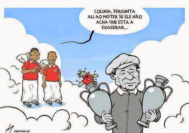 Cartoon Eusébio Coluna Béla Guttman Sport Lisboa e Benfica Madição Cartoon