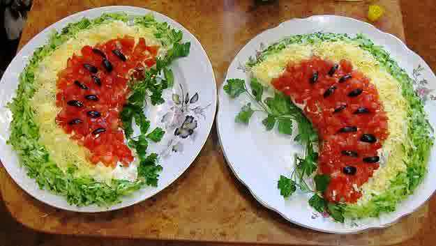 Salad arrangement ideas art projects art ideas for Salas ideas