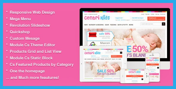 Kids Store Responsive template